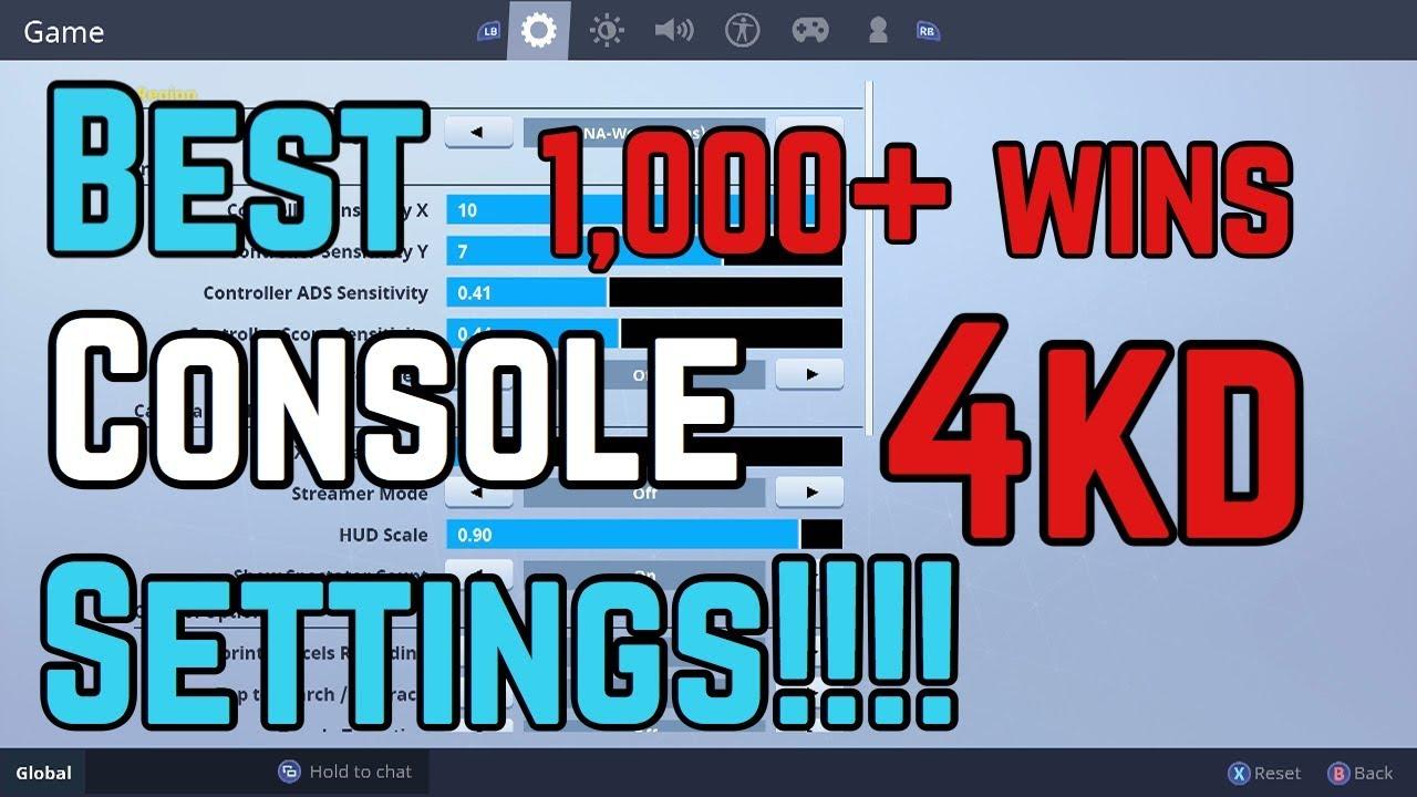best fortnite console settings and sensitivity - best sensitivity for fortnite ps4 season 6