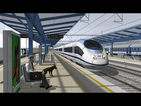 High Speed Railway - visualization - without dabing and subtitles