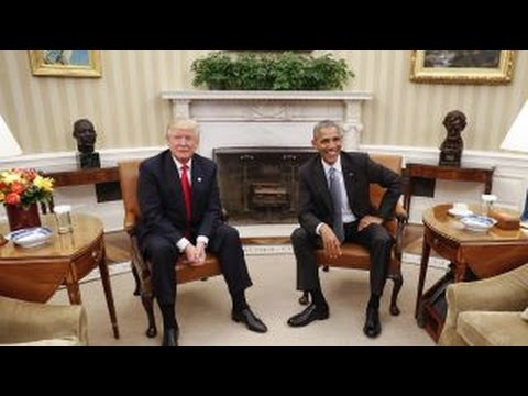 The transition of power between Obama and Trump