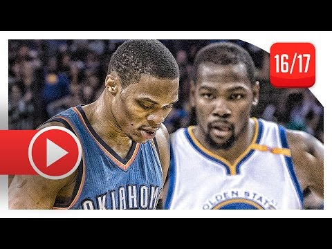 Kevin Durant vs Russell Westbrook EPIC Duel Highlights (2017.01.18) Warriors vs Thunder - MUST SEE!