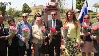 مصر العربية | افتتاح تمثال الكسندر بوشكين بحديقة الحرية