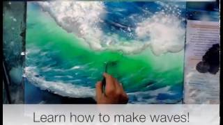 how to paint ocean waves for spray paint artists