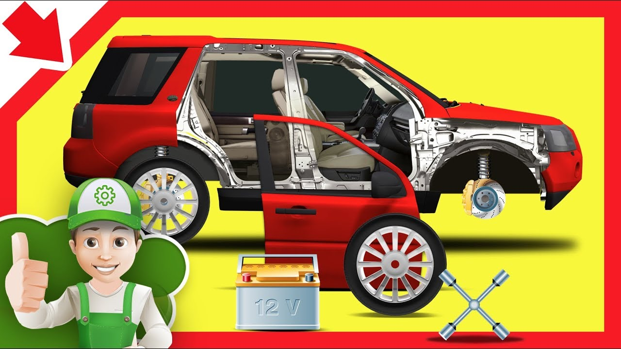Car Wash Cartoon For Kids Car Repair Service Educational Car Kids