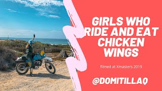 Women who ride, climb and eat chicken wings