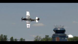 quicksilver p 51 mustang flying display at qias