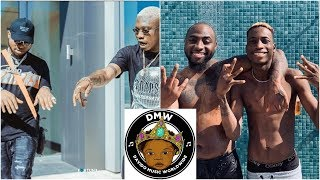 Davido Destroys Lil Frosh39s FAKE Rolex Watch As He Gives Zlatan 40k Dollars Diamond Chain