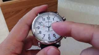 Detroit built white Shinola Runwell Chrono 47mm quartz chronograph watch unboxing and review