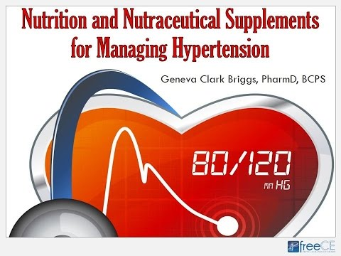 Nutrition and Nutraceutical Supplements for Managing Hypertension