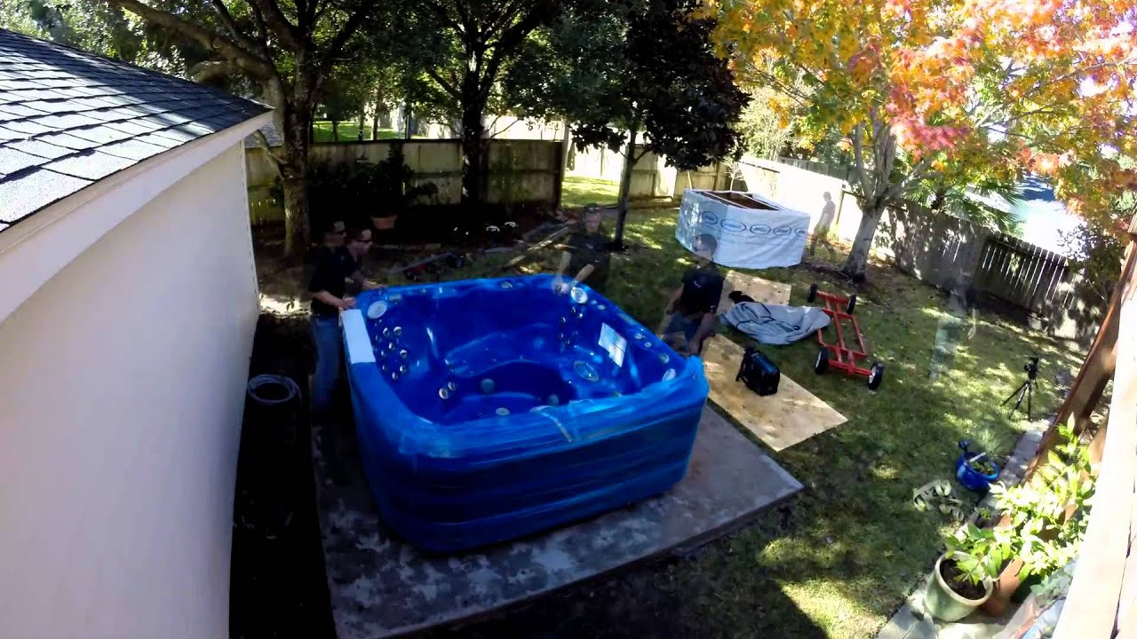 Jacuzzi Hot Tub Installation - YouTube