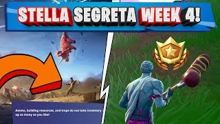 WEEK STELLA 4 FORTNITE! WEEK 4 SECRET BATTLE STAR FORTNITE!