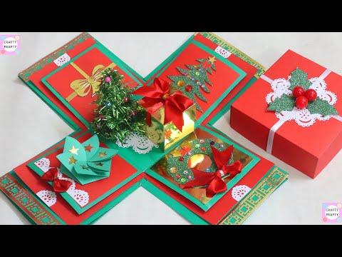 How to make Explosion box / DIY Christmas Day Explosion Box /Explosion Box Tutorial  |Gift Idea