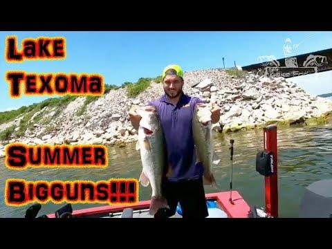 LAKE TEXOMA SUMMER BASS FISHING W/ Fish Lyfe Outdoors