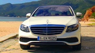 New E-class E 350 e Exclusive, designo diamond white bright. Test-drive in Lisbon.