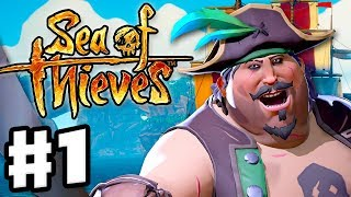 Sea of Thieves - Gameplay Part 1 - Sailing the Seas and Finding Treasure with Zanitor!