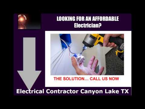 Electrical Contractor Canyon Lake TX - Contact us at (210) 757-4378