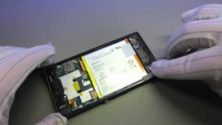Sony Xperia Z Backcover Reparatur / Austausch - handyreparatur123