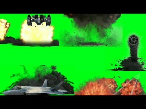 Green Screen Top Blast/Crash Explosion Effects | Plane, Bomb etc. | Hollywood Vfx HD | Green Screen thumbnail