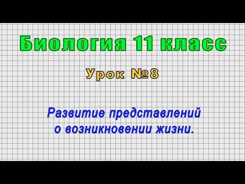 Биология 11 класс (Урок№8 - Развитие представлений о возникновении жизни.)