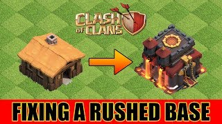 HOW TO FIX A RUSHED BASE in Clash of Clans? | Clash of Clans India