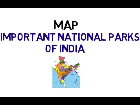 National Parks By State Map on