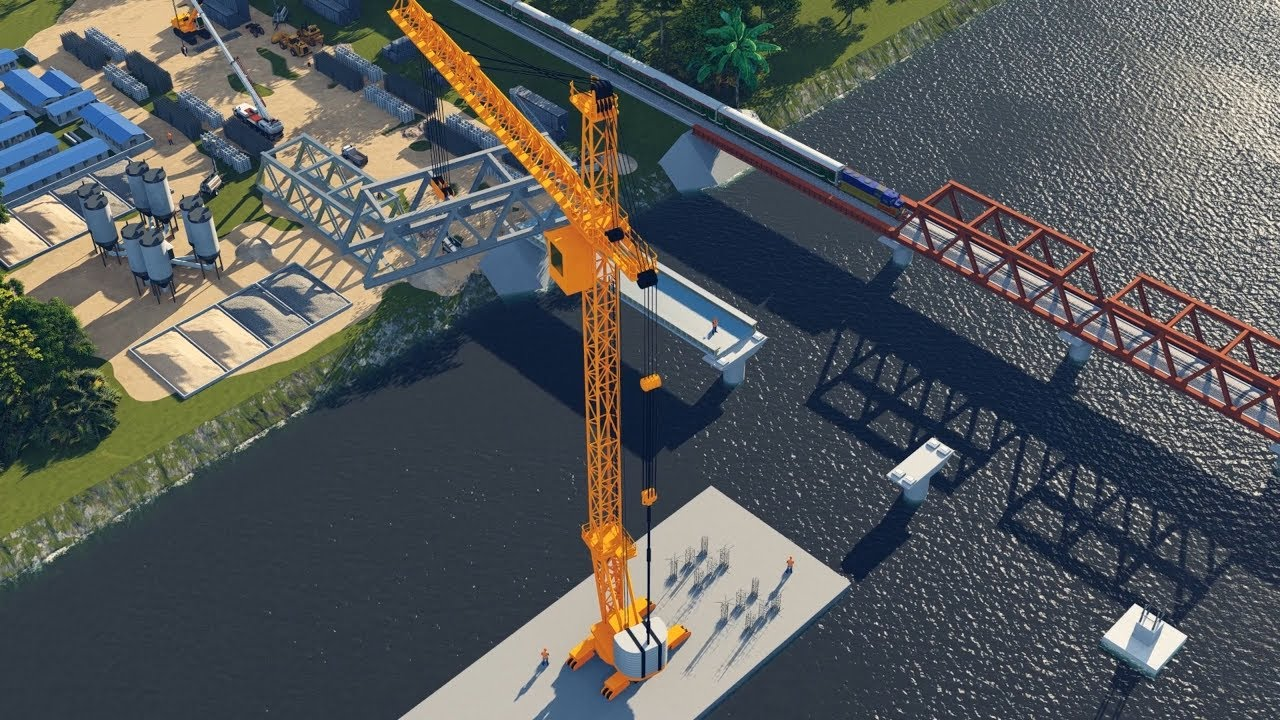 Construction of dual gauge double line between Joydebpur to Ishurdi  (Animation)