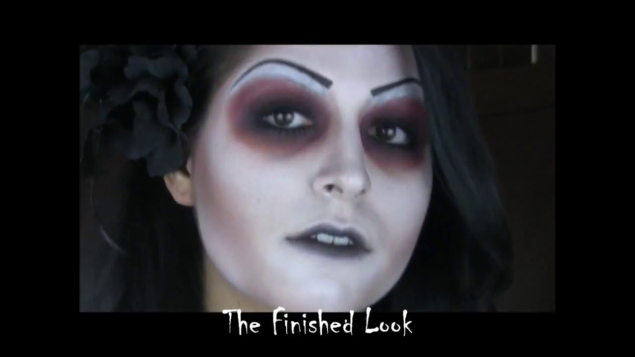 Halloween Makeup Tutorial 3 Day Of The Dead Zombie Youtube