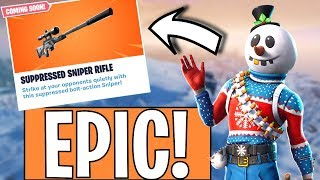 FINALLY A FORTNITE STREAM! *NEW SUPPRESSED SNIPER!*