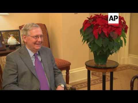 Senate Majority Leader Meets Trump