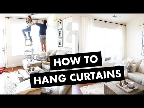 How to Hang Curtains (in 4 Easy Steps)