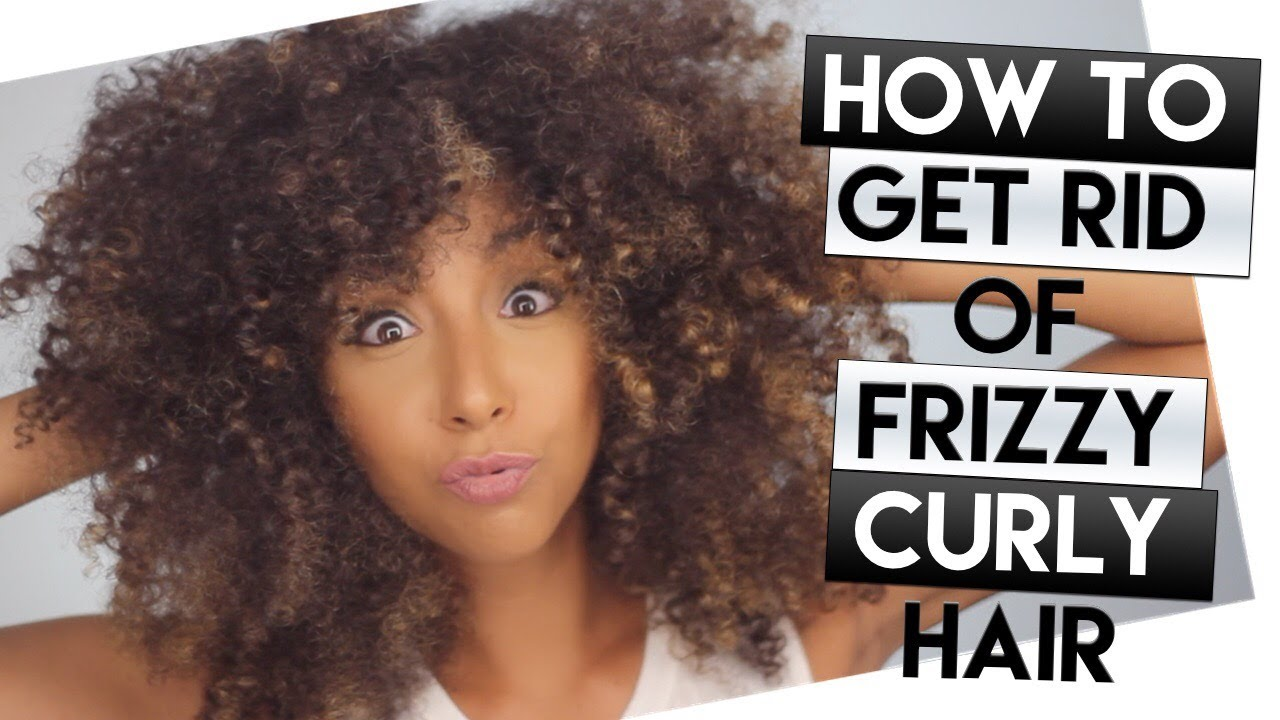 how to get rid of frizzy curly hair + my hair with no product! ! | biancareneetoday