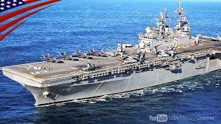 【最新型アメリカ級強襲揚陸艦】F-35Bを20機・準空母なみの実力!もうすぐ日本へ!ワスプ級との違いとは?大迫力の映像&軍艦についての解説や秘話なども収録
