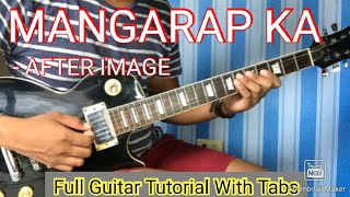 aFTER IMAGE  MANGARAP KA SOLO LESSON with GUITAR PRO 7 TABS and BACKING TRACKS ALVIN DE LEON (2020)