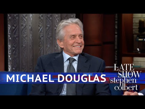 Michael Douglas' Visit From Two Music Icons And A Dog