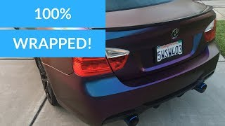 100% FINISHED WRAPPING MY BMW E90 (REAR BUMPER DIY)