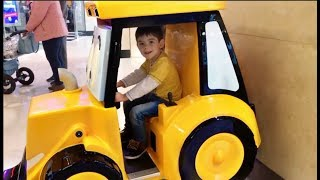 Alex  Ride on Truck Having Fun