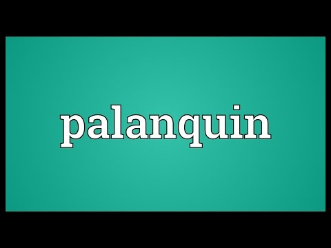 Palanquin Meaning