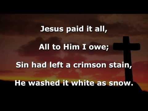 Jesus Paid It All Instrumental with lyrics