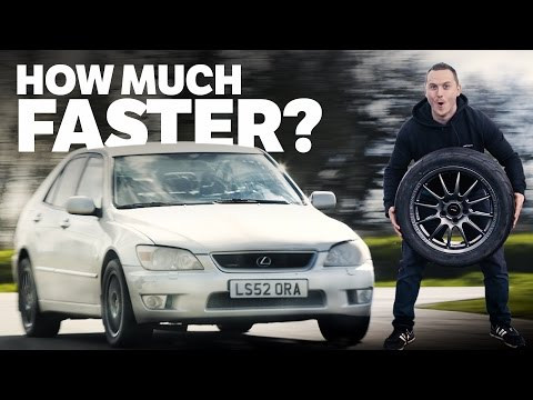 How Much Faster Is My IS 200 Track Car With Lightweight Wheels & Semi Slicks?