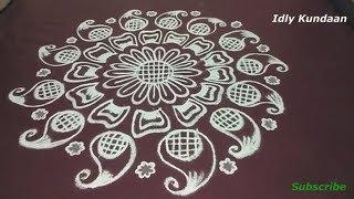 Unique Freehand Rangoli without Dots   Simple Creative Muggulu Rangoli   Simple Rangoli Kolam Design