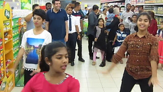 lulu hyper market Buraimi , Oman 5th anniversary -Flash mob dance hindi