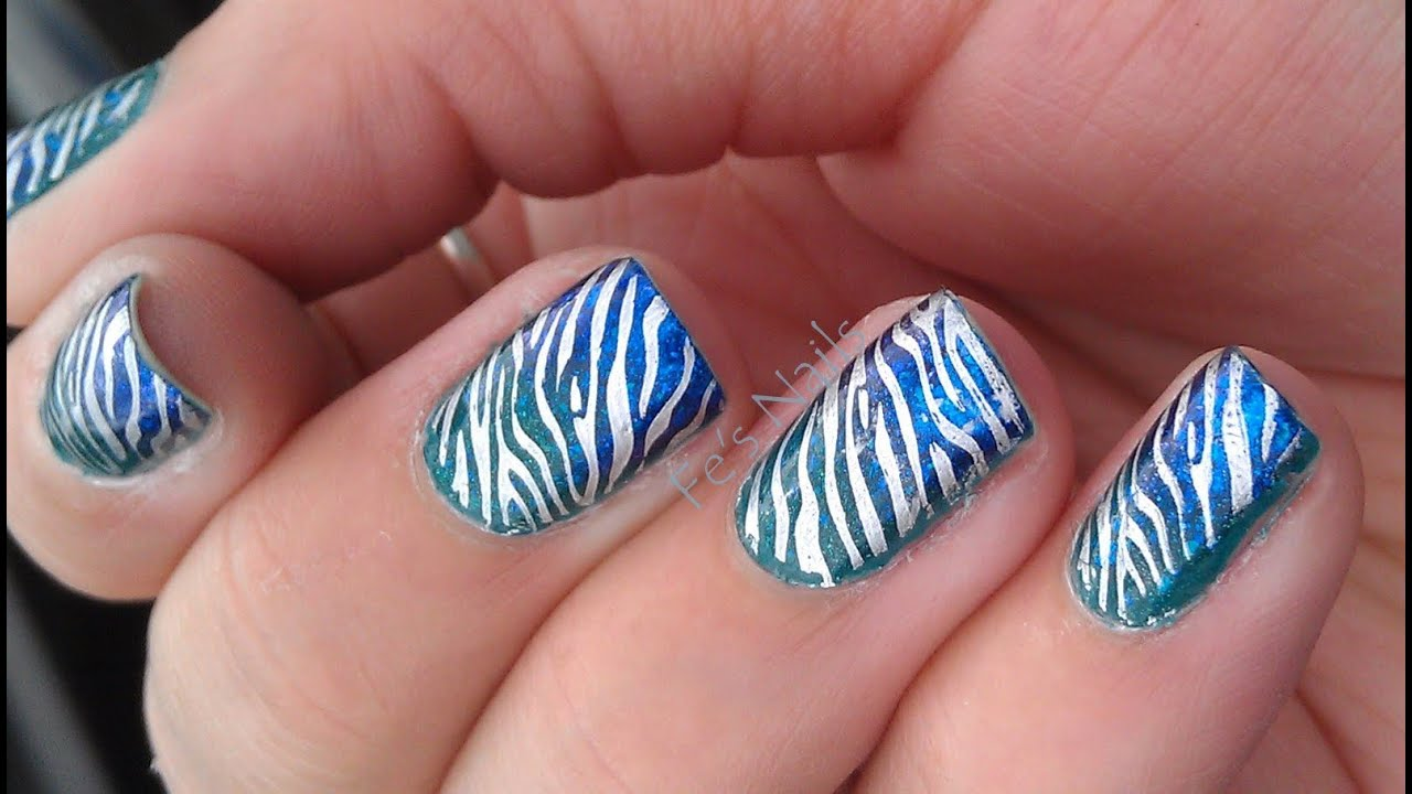 Diseño de Uñas Animal Print Cebra - YouTube