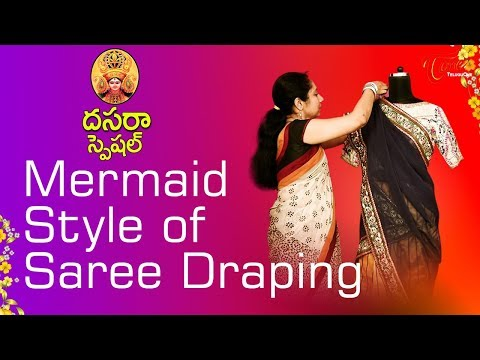 Fashion Passion | Mermaid Style Of Saree Draping | Dussehra Special