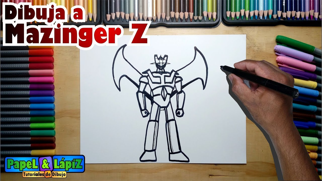 Cómo Dibujar Fácil A Mazinger Z Paso A Paso