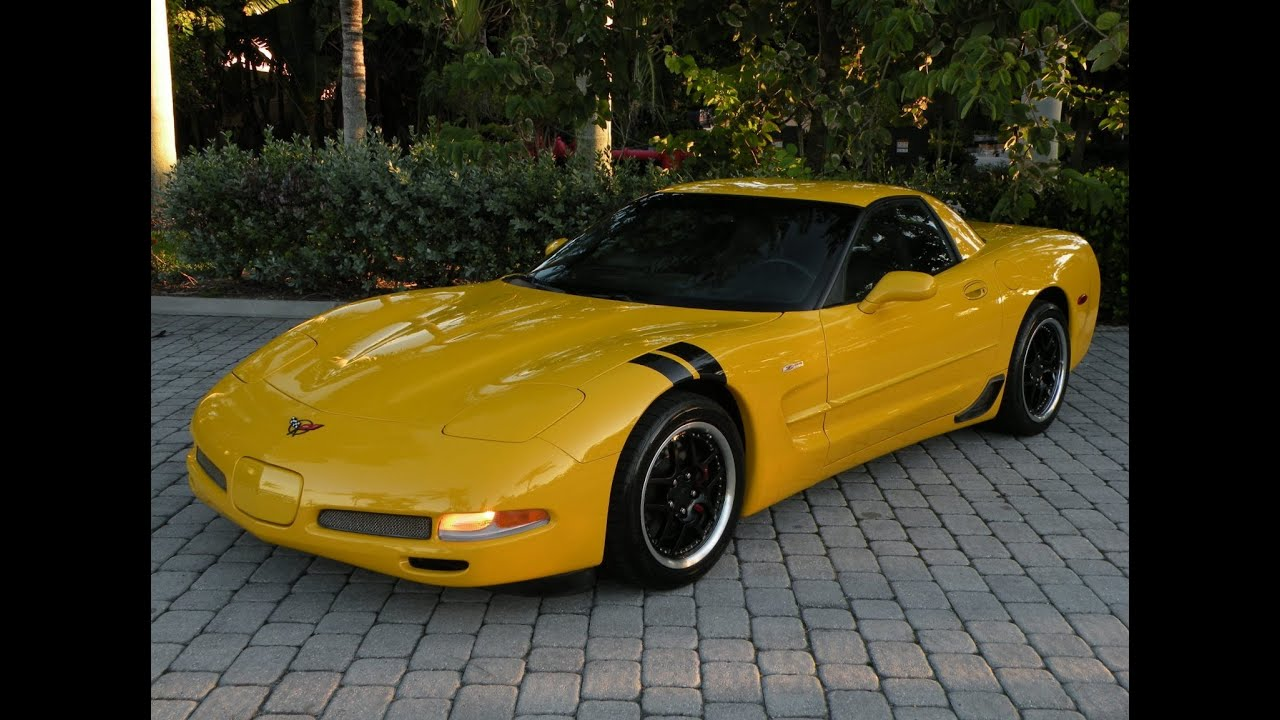 2004 chevy corvette z06 yellow for sale fort myers florida. Black Bedroom Furniture Sets. Home Design Ideas