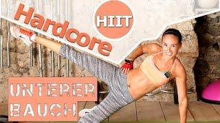 Unteres Bauchfett - Bauch Workout - Fettverbrennung  - 12 Min Hardcore HIIT - Sixpack bekommen