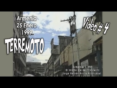 TERREMOTO Armenia 1.999 Quindio Colombia Video 4