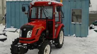 Купить Мини-трактор DongFeng-244C (ДонгФенг-244К) с кабиной красный minitrak.com.ua (кратко)(, 2017-02-06T12:31:41.000Z)