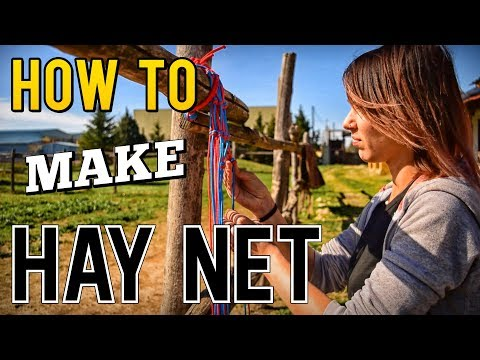 How To Make A Hay Net For Your Horse