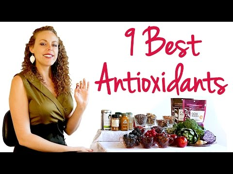 9 Best Antioxidant Foods! Red Wine for Anti Aging? Healthy Eating Tips for Weight Loss & Energy