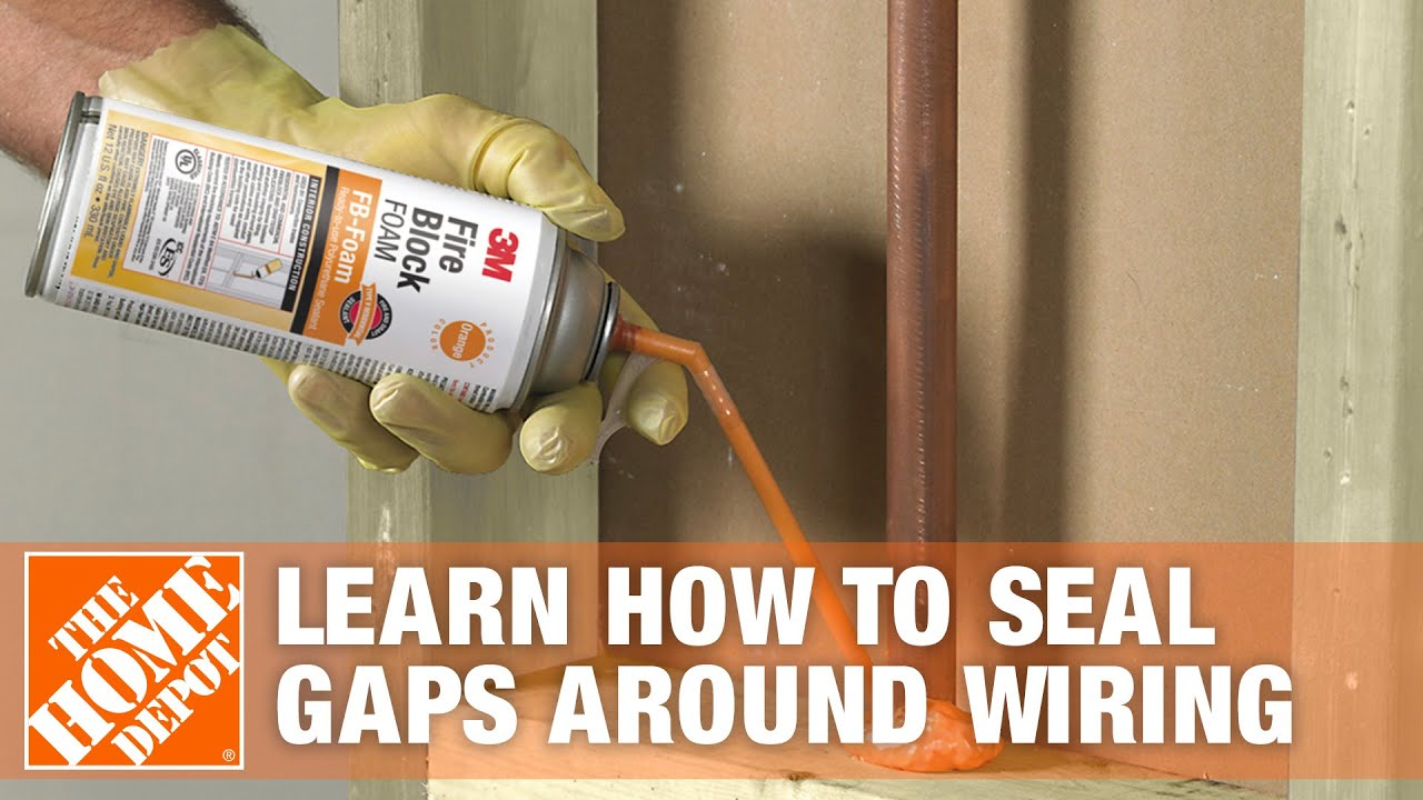 Learn How to Seal Gaps Around Wiring with Great Stuff Fire Block Expanding  Foam | The Home Depot